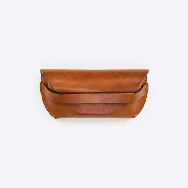 Sonnenbrillen Lederetui Braun (Sunglasses Leather Envelope Brown)