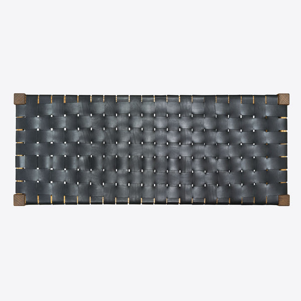 Geflochtener Lederbank Schwarz (Woven Leather Bench Black)