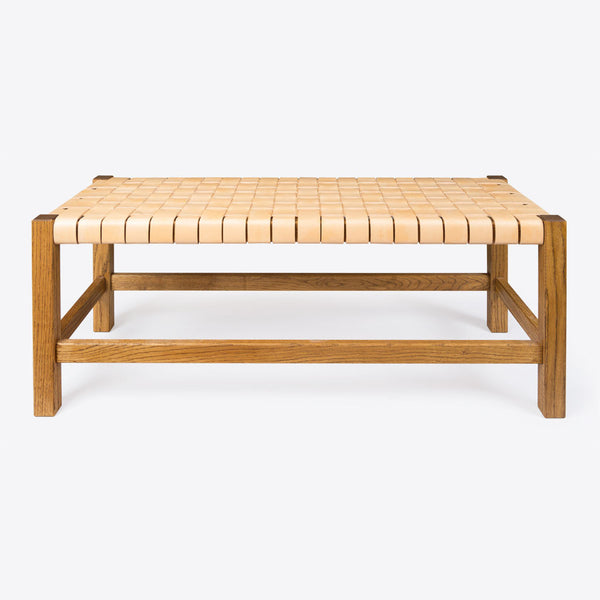 Geflochtener Lederbank Natur (Woven Leather Bench Natural)