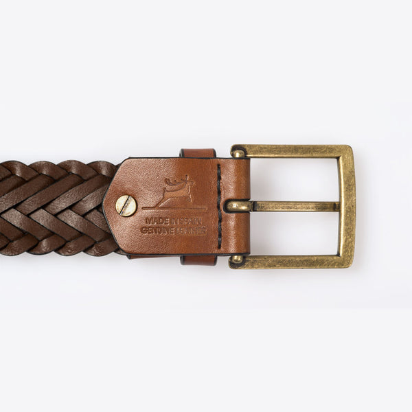 Geflochtener Ledergürtel Braun (Braided Leather Belt Brown)