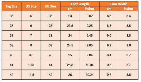 Purple Relic Womens Heels Shoe Size Chart US-EU Conversion