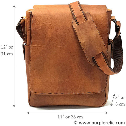 Purple Relic Real Leather Tablet Bag