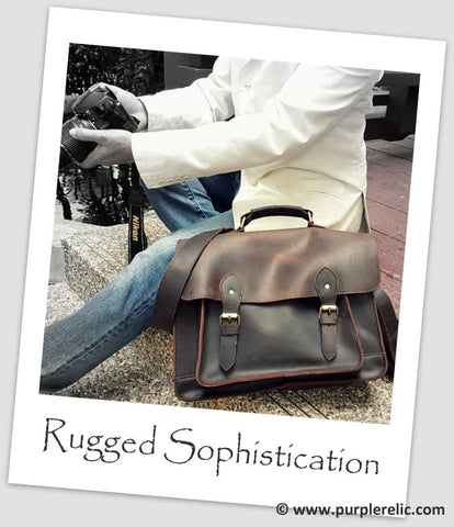 vintage mens leather briefcase bag