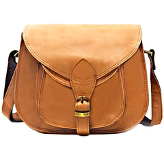 Leather Half-Moon Crossbody Purse