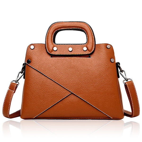 Lightweight Vegan Leather Handbag and Purse - Mini Crossbody Satchel Bag