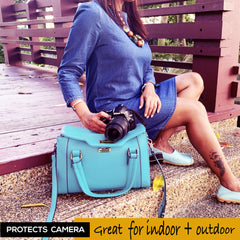 DSLR Women Camera Bag with Removable Padded Camera Case
