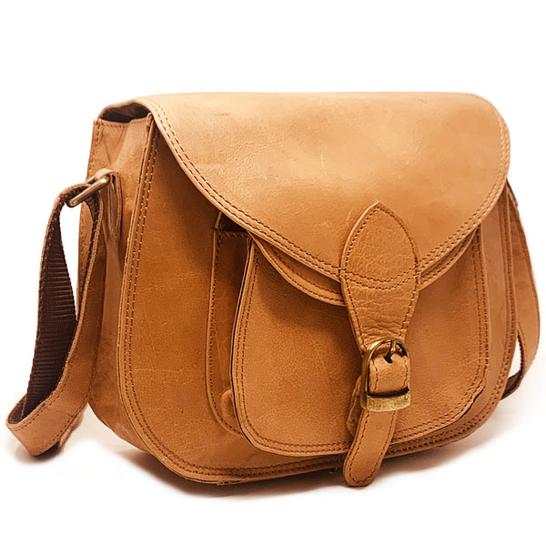 Soft Calfskin Leather Sling Bag - Elegant Crossbody Purse - Everyday Satchel