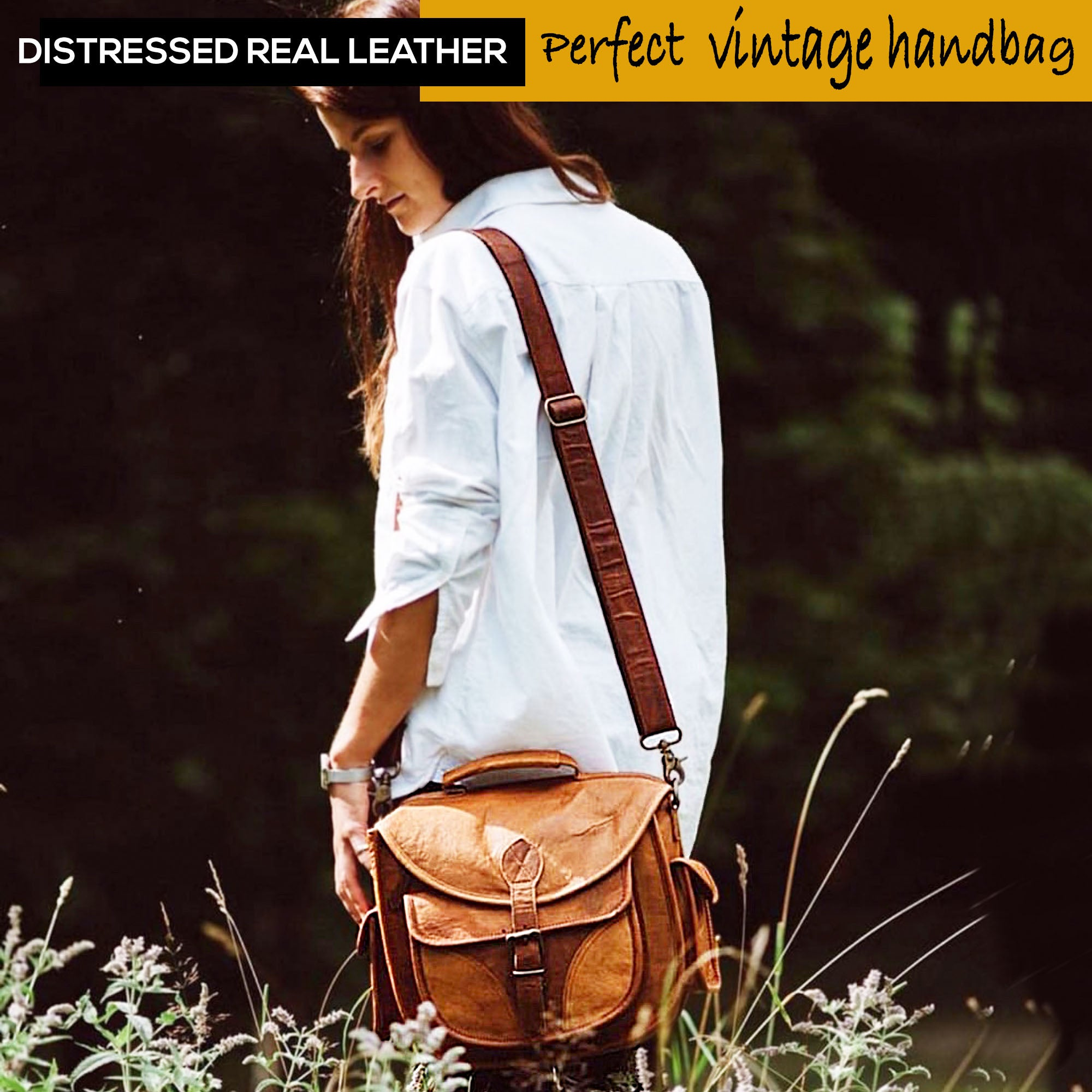 Rustic travel camera bag