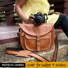 Women Leather Camera Bag