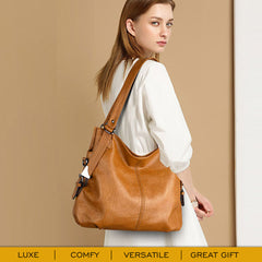 Large Soft Everyday Hobo Tote Handbag for Work, Office, Travel, Party, Gift