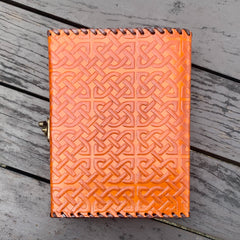 A5 Leather Journal with Hook-Eye Lock