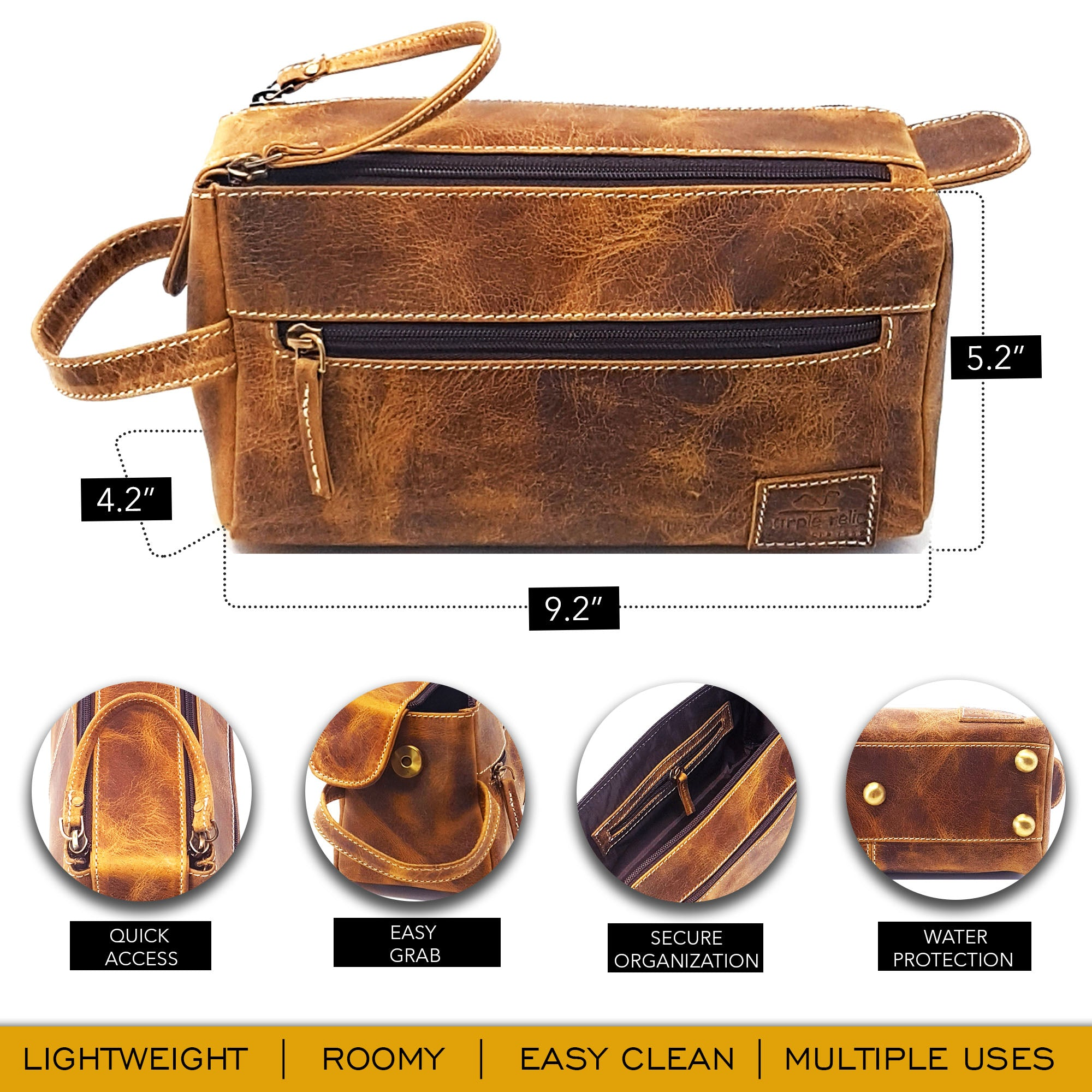 brown leather tools bag by Purple Relic