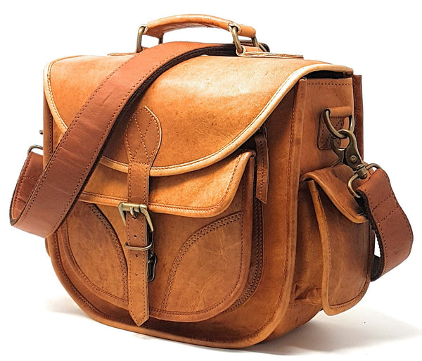 Camera Bags - DSLR Leather Camera Bag ~ Travel Vintage Crossbody Shoulder Bag Removable Insert ~ Fits Standard Size DSLR Lens