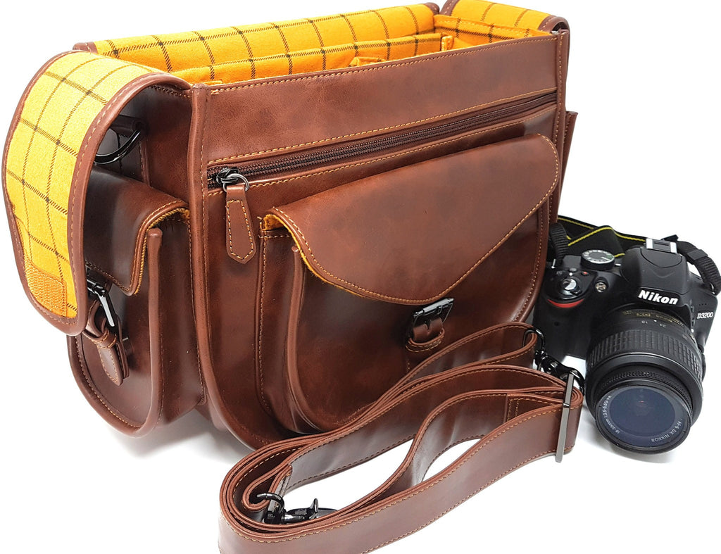 Camera Bags - Purple Relic: New Arrival DSLR Camera Vintage Bag; Travel Shoulder Bag With Removable Insert; Fits Standard Size DSLR With Lens For Canon Nikon Sony;
