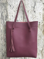 Handbags - Purple Relic: Soft Leather Handbag ~ Luxury Shoulder Office Tote