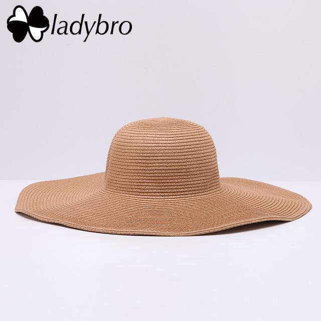 Hats & Caps - PURPLE RELIC: Foldable Straw Beach Sun Hat Wide Brim Floppy ~ UV Protection