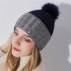 Hats & Caps - Purple Relic: Pom Pom Beanies ~ Women Winter Hat