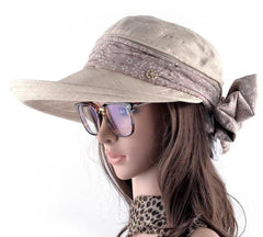 Hats & Caps - PURPLE RELIC: Sun Hat Women ~ Wide Brim Summer Visor Caps ~ Outdoors UV Protection