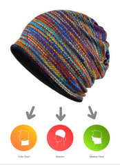Hats & Caps - PURPLE RELIC: Winter Beanies ~  Collar Scarf ~ Warm Hip Hop Hats