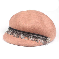 Hats & Caps - Purple Relic: Winter Wool Newsboy Cap ~ Women Winter Cap