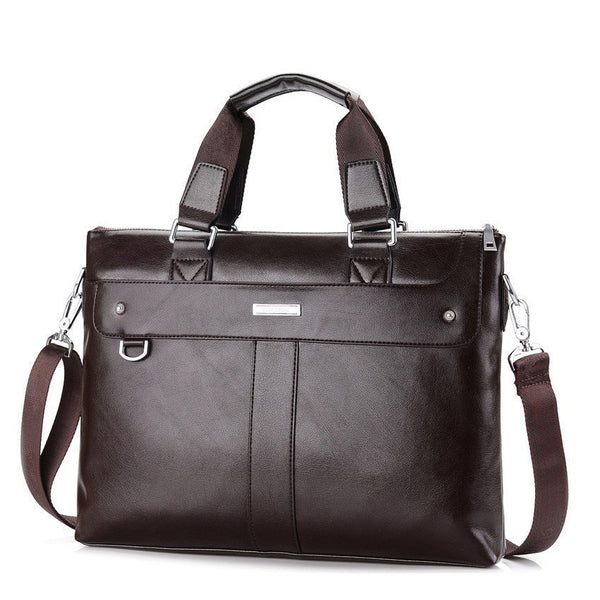 Laptop Bags - Men Casual Briefcase Business; Shoulder Bag; Leather Messenger Bags; Computer Laptop Handbag;  Men's Travel Bag;