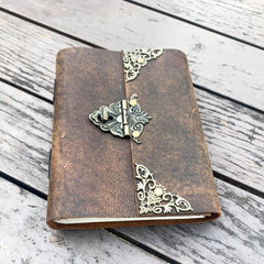 A5 Leather Journal with Twist Lock