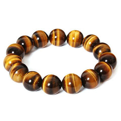 Men Jewelry - Yellow Tiger Eye Beads Bracelet; Men Jewelry;