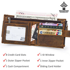 Mens Wallets - Mens Leather RFID Wallet ~ Card Wallet ~ New Arrival