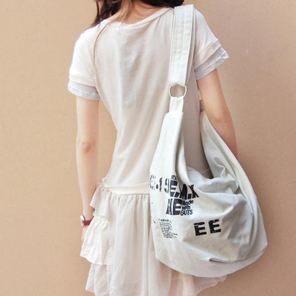 Messenger Bags - Korean Over Shoulder Women Bag ~  Canvas Crossed Body Messenger Bag