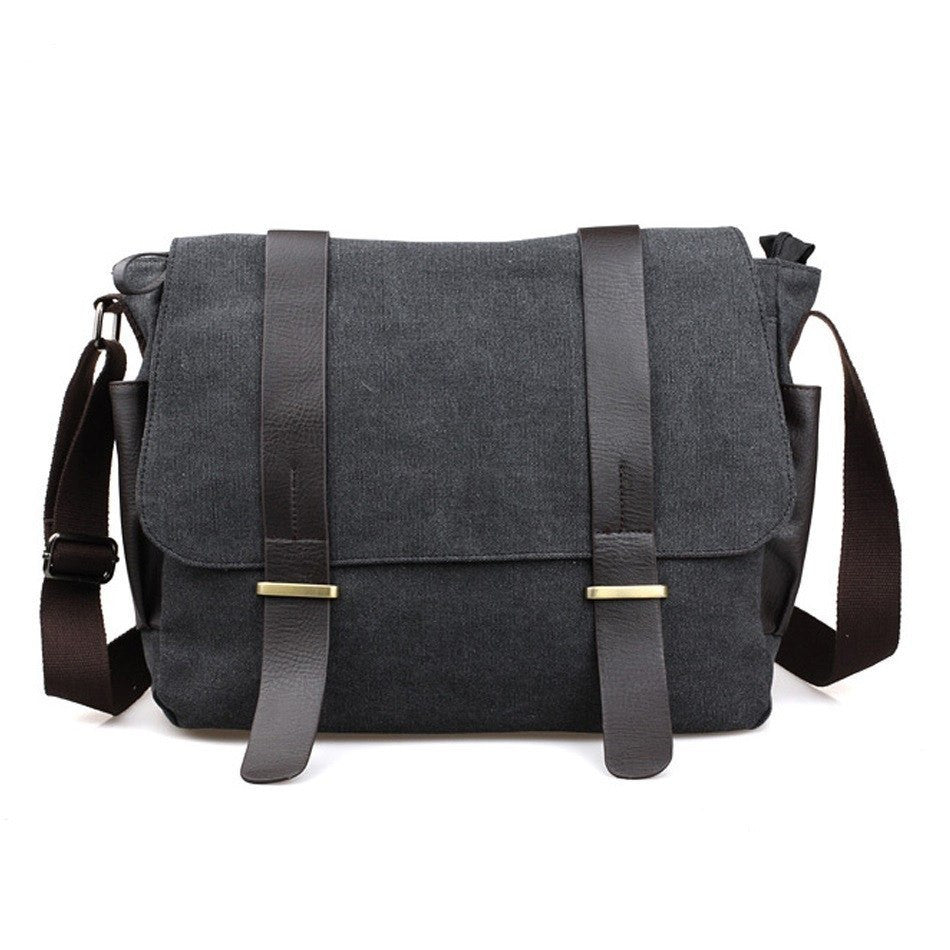 Messenger Bags - Messenger Bag; Men's Vintage Canvas School Military Shoulder Bag; Retro Style Crossbody Bag;