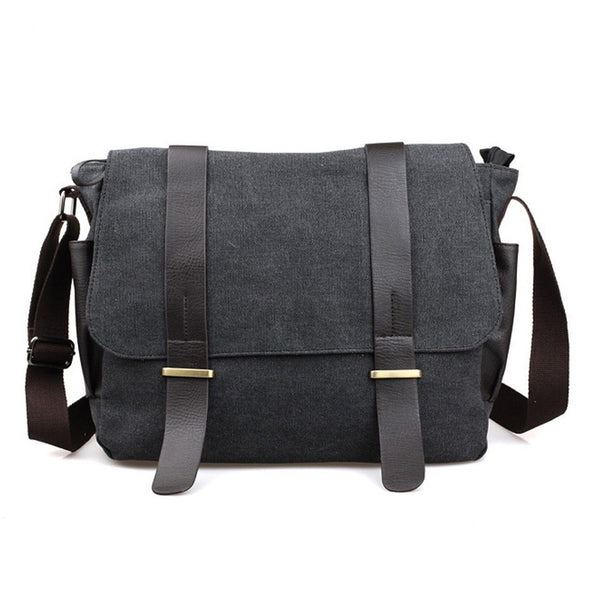 Messenger Bags - Messenger Bag  Men s Vintage Canvas School Military Shoulder  Bag  Retro Style
