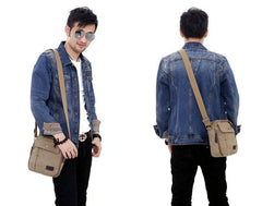 Messenger Bags - New Men Messenger Crossbody Bag; Casual Multi-functional Men Travel Bag; Canvas Shoulder Bag;