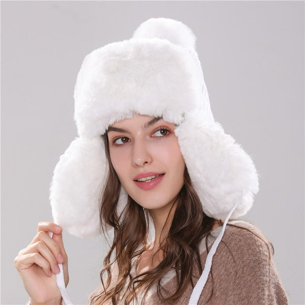 Bomber Hats for Women - Beanies with Pom Pom