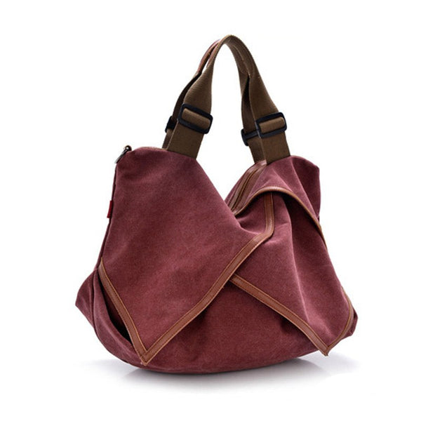 Totes - Retro Casual Canvas Women Hobo Tote Bag