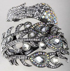 Women Bracelets - Peacock Rhinestone Bracelet; Crystal Bangle ~ Women Jewelry