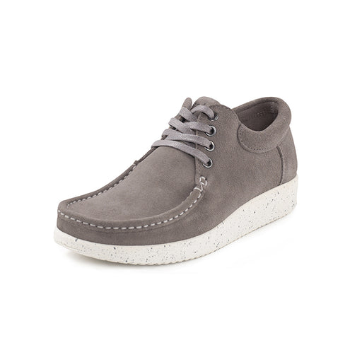 Nature Anna Suede 1001-002-003 sko light grey-Nature-Hoofers - We love shoes