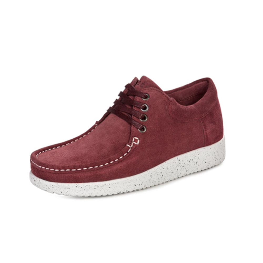 Nature Anna Suede sko bordeaux-Nature-Hoofers - We love shoes