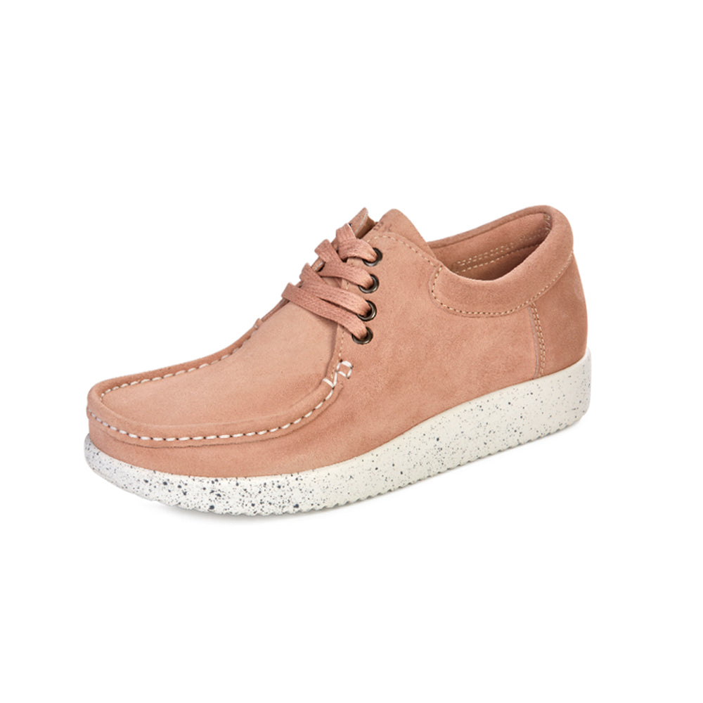 447541b48a7 Nature Anna suede 1001-002-016 Shoes Salmon- Nature - Hoofers -We