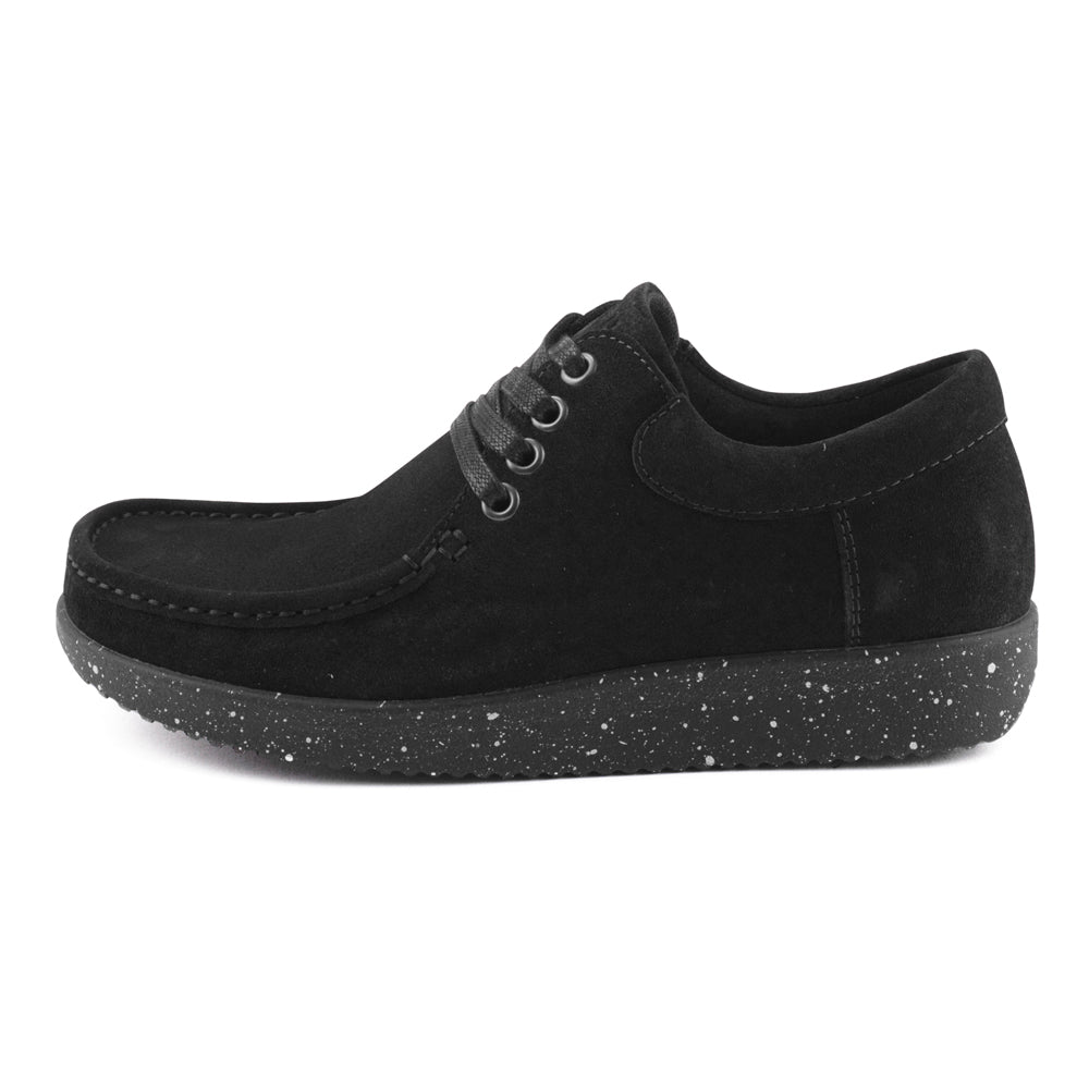 Nature Anna Suede 1001-009-002 sko black-Nature-Hoofers - We love shoes