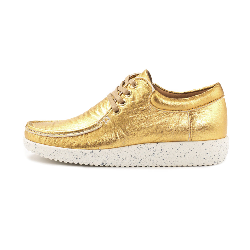 Nature Anna Pineapple Leather 1001-016-013 sko gold-Nature-Hoofers - We love shoes