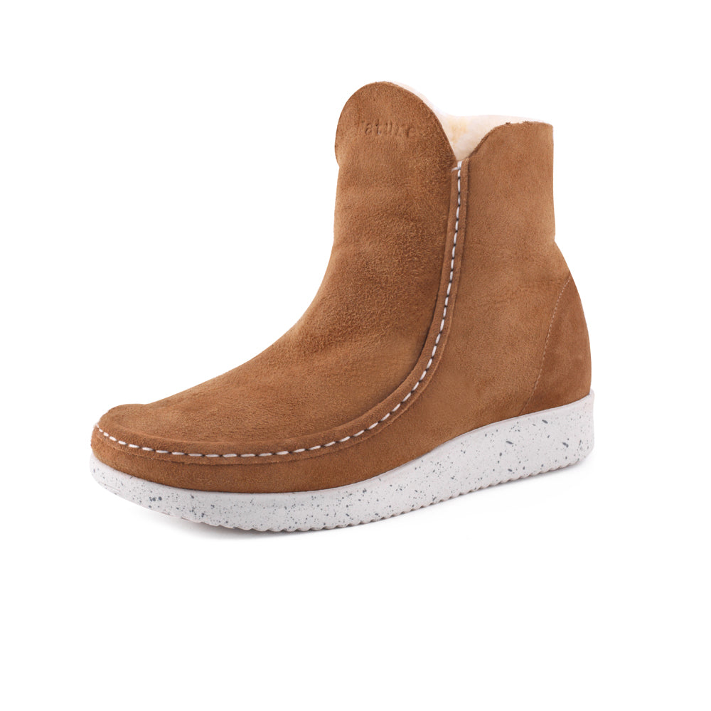 Nature Nanna Suede 1004-102-025 støvle toffee-Nature-Hoofers - We love shoes