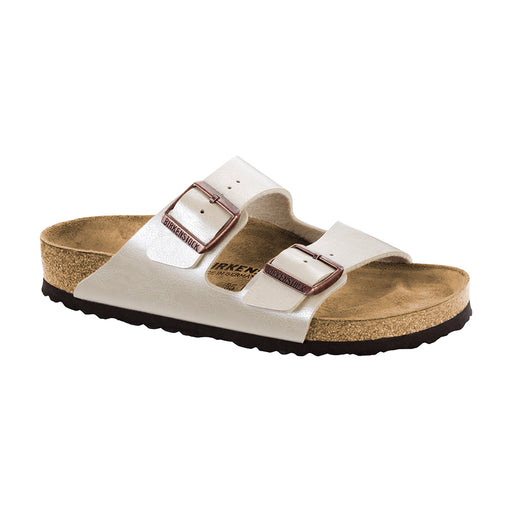Birkenstock Arizona 1009921 sandal hvid perlemor-Birkenstock-Hoofers - We love shoes