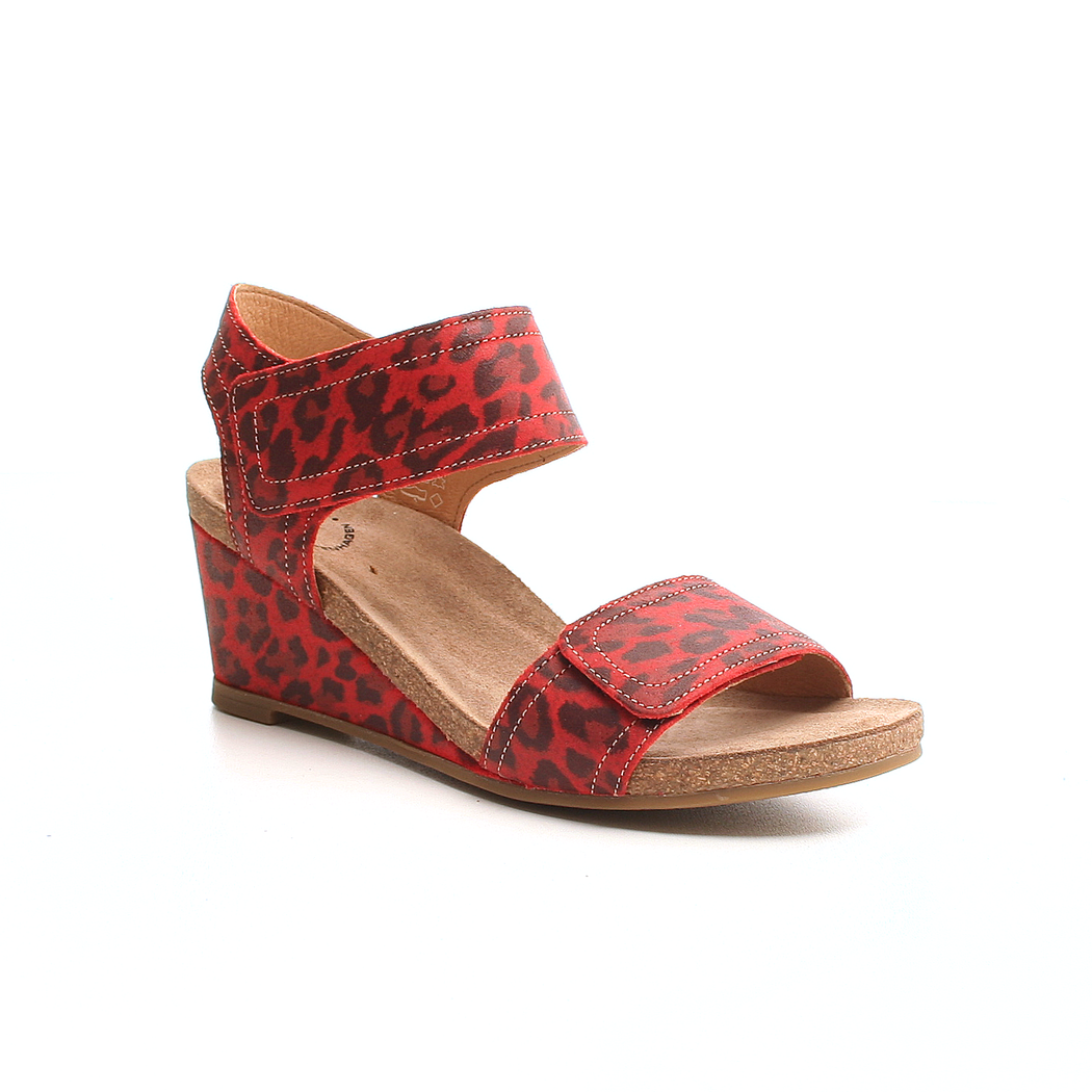 Ca'Shott 13011-29 sandal rød leopard-Ca'Shott-Hoofers - We love shoes