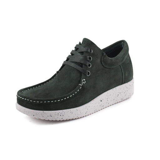 Nature Arne Suede 2001-002-115 sko bottle green-Nature-Hoofers - We love shoes