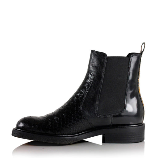Billibi 7424-315 støvle black/curry snake-Billibi-Hoofers - We love shoes