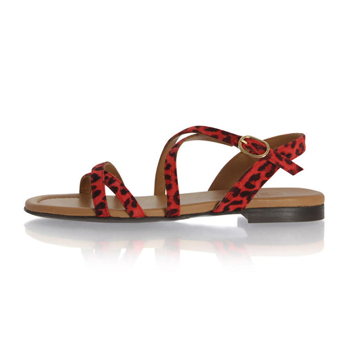 Billibi 4920-548 sandal rød leopard-Billibi-Hoofers - We love shoes