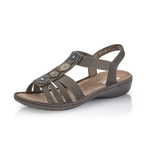 8681b165a60a Rieker 608G9-45 sandal grå-Rieker-Hoofers - We love shoes