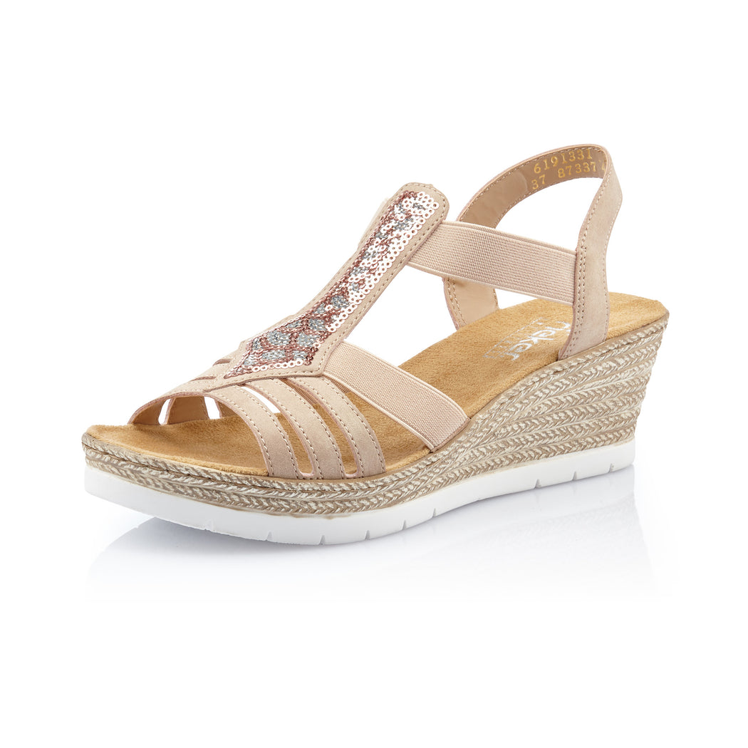 Rieker 61913-31 sandal rosa-Rieker-Hoofers - We love shoes