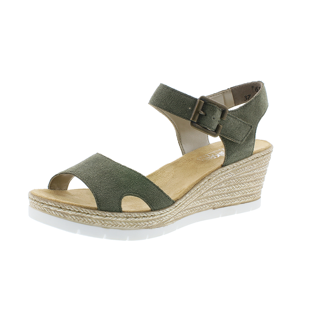 Rieker 619B3-54 sandal grøn-Rieker-Hoofers - We love shoes