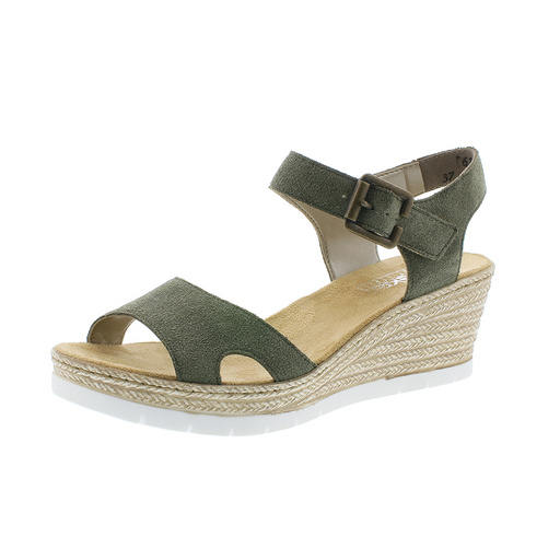 e39cc8558a5b Rieker 619B3-54 sandal grøn-Rieker-Hoofers - We love shoes